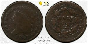 1811 PCGS G Detail Damage Classic Head 1/2 Cent with a TrueView (dw1319)