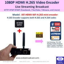 Portable WiFi HDMI H.265 encoder for RTMP Facebook Live YouTube IPTV live stream