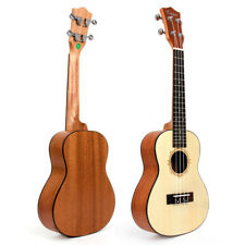 Kmise Professional Concert Ukulele Hawaii Guitar 23 Inch Top laminated Spruce