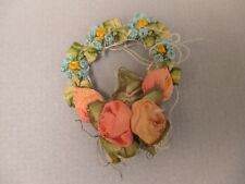 Antique victorian Silk Ribbon work ribbon Rose Rosette