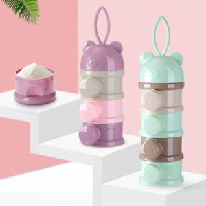 3/4 Layer Portable Baby Milk Powder Dispenser Container Storage Cereal Snack Box