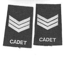 Shoulder Rank slip ons Pair Canadian Air Cadet sergeant