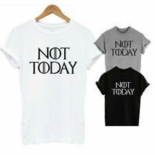 Arya Stark Not Today T-Shirt Game Of Thrones Inspired Ladies Adults Unisex (Top)