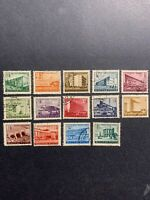 1951-53 Hungary stamps , Budapest Buildings