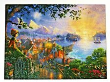 Thomas Kinkade Disney Pinocchio Wishes Upon A Star Puzzle 750 Pcs Complete GUC