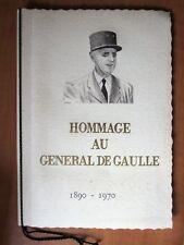 Livret Hommage Au Général De Gaulle 1890 - 1970 Timbres collection 1971 France