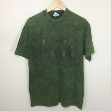 Vintage Hanes Beefy T Shirt Yellowstone National Park Size L Green Short Sleeve