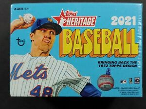 2021 Topps Heritage Baseball Blaster Box new sealed *72 Cards Auto & Relics ?