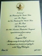President Reagan Official 50th Inaugural Ball Invitation 1985 Washington DC