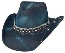 c8795610aa9 NEW Montecarlo Bullhide BETTER THAN YESTERDAY Denim Western Cowboy Hat Blue  NWT