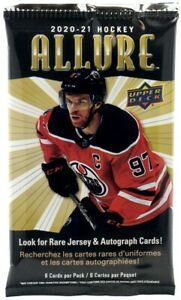 2020-21 Upper Deck Allure NHL Hockey Trading Card Pack Jersey Auto's New Sealed