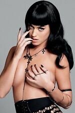 "Katie Katy Perry 4""x6"" busty black skirt no top picture 4""x6"" photo portrait e"