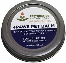 4PAWS PET BALM Hemp Oil Extract and Arnica oil Salve Restorative 60mg Topical Re