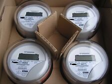 ITRON WATTHOUR METER KWH, TYPE C1SR, 240V, 200 AMPS, RESET TO ZERO, LOT OF 4