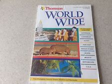 THOMSON WORLD WIDE TRAVEL. December 1992 -93, beautiful pictures, 178 pages