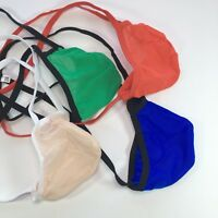 K179 Mens Pouch String Thong Bulge Enhancer Low Rise T Back Mesh Semi-C-thru