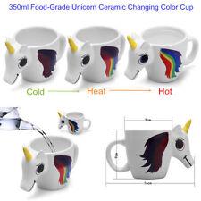 2018 Ceramic Unicorn 3D Heat Sensitive Magic Changing Color Mug Coffee Cute Cup