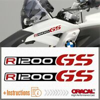 2x R1200GS Black/Red BMW ADESIVI R1200 GS PEGATINA STICKERS AUTOCOLLANT R 1200