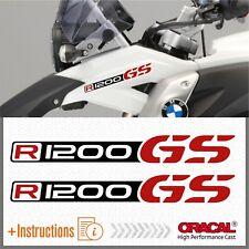 2x R1200GS Black/Red BMW ADESIVI R1200 GS PEGATINA STICKERS AUTOCOLLANT R 1200