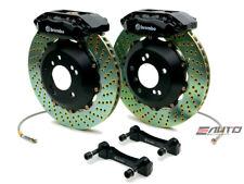 Brembo FRONT GT Brake 4 Pot Black 328x28 Drill CL 01-03 TL 99-03 Accord V6 98-02