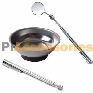 3 Pcs Magnet Tray Flexible Mirror Pick-Up Mechanic Parts Magnetic Hand Tool Set