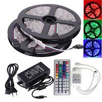 2x 5M SMD 5050 LED Leiste Stripe Streifen RGB Licht Fernbedienung 12V Netzteil
