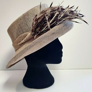 Ladies Special Occasion/Wedding Straw Hat by Debut, 'Queen Brimmed'