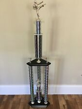 Beautiful Martial Arts Trophy Huge 4ft Tall 3 Post Den Man Cave Great Eye Appeal