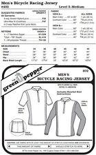 Men's Bicycle Racing Jersey Shirt #402 Sewing Pattern (Pattern Only) gp402