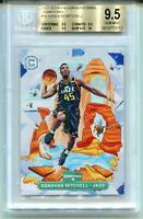 DONOVAN MITCHELL 2017-18 Panini Cornerstones Downtown Rookie RC SP BGS 9.5 Gem