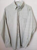 Brooks Brothers M Blue Green Striped Slim Fit Dress Shirt