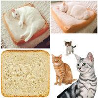 Toast Cushion Soft Pillow Sleeping Cotton Simulation Bread Slices Cat Plush Toy