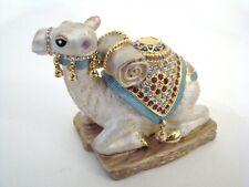 RUCINNI Jeweled Trinket Hinged Box - Camel