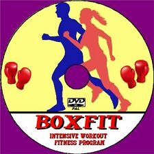 BoxFit Workout Intense Boxing Fitness Training Program Video DVD Boxercise Box