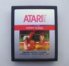 Jeu ancien pour console Atari 2600 RealSports Tennis - vintage game cartridge