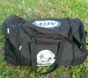 Dallas Cowboys Miller Lite Travel Luggage  Duffel Bag Tail Gate Rolling Cooler