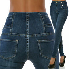 "Damen Stretch-Jeans /""Bauch-Weg-Röhre/"" Skinny-Fit Größe 36 38 NEU"