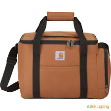 New Brown Carhartt Signature 40 Can Duffel Picnic Cooler Bag with Free Shipping