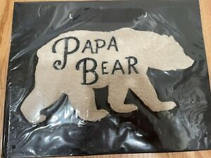 NIP Marcel Schurman Fuzzy Papa Bear Black Gift Bag $9 Retail Papyrus New