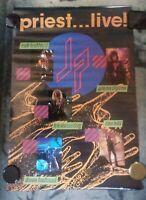 Judas Priest Live Concert Poster 1987,Halford,Tipton,K K Downing,Ian Hill