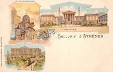 ATHENS, GREECE, GRUSS AUS MULTI-VIEW, ACADEMY, PALACE & CHURCH, c.1899