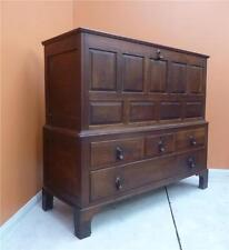 OAK Georgian Mule chest early 1800s with four Drawer Base, bracket feet, storage