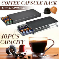 40 Cup For Nespresso Coffee Capsule Holder Bracket Pods Rotating Rack