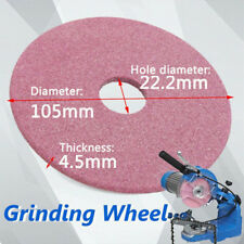 "105mm Grinding Wheel Stone Disc Fits Chainsaw Sharpener Grinder 3/8"" Chain Stock"