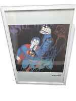 Andy Warhol, Original, Lithograph,  Signed, Limited-Edition, COA, Superman,