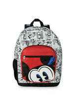 """Disney Parks Mickey Mouse Comic Padded Backpack 18"""" New In Hand"""