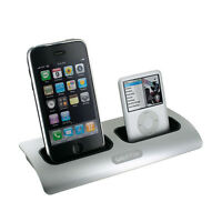 Griifin Power Dock 2 Charging Station Cradle Dual-Position Apple Iphone Ipod