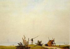 "Caspar David Friedrich ""Ocean Beach with Fisherman"" 1807 POSTCARD 4x6"