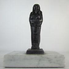 Egyptian Statue Coffin Mummy Stone Resin Marble Base Figure Figurine Rare Unique