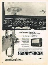 PUBLICITE ADVERTISING 1958   DUCRETET-THOMSON  radio téléviseurs